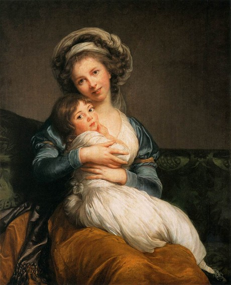 Elizabeth Vigée-Lebrun, 'Madame Vigée-Lebrun and Her Daughter', 1786 (Private collection: Louvre, Paris)