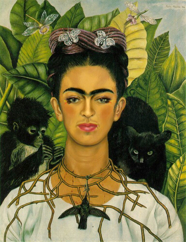 Frida Kahlo, Self-Portrait with Thorn Necklace and Hummingbird, 1940, Harry Ransom Center, University of Texas, Austin