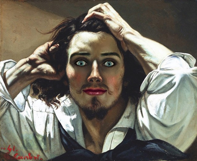 Gustave Courbet, Self-Portrait (The Desperate Man), c. 1843-45.