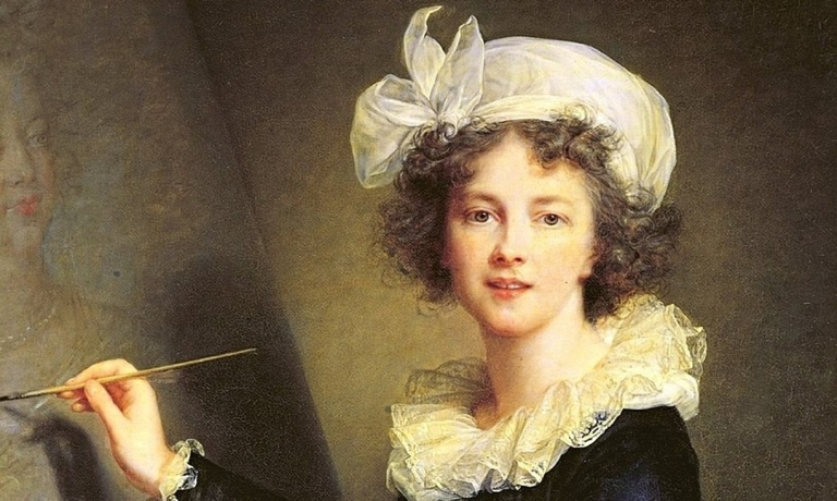 Just one smile … Mme Le Brun's outrage-inducing self portrait from 1787. w