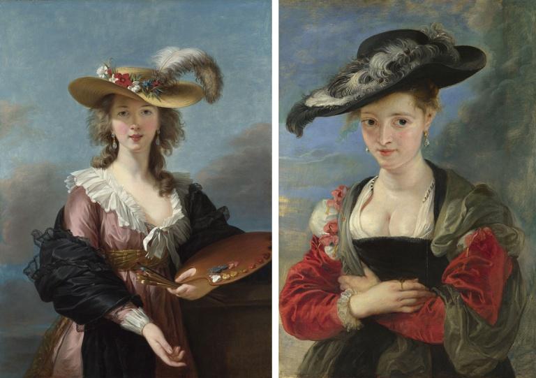 Self Portrait in a Straw Hat after 1782, Elisabeth Louise Vigée Le Brun