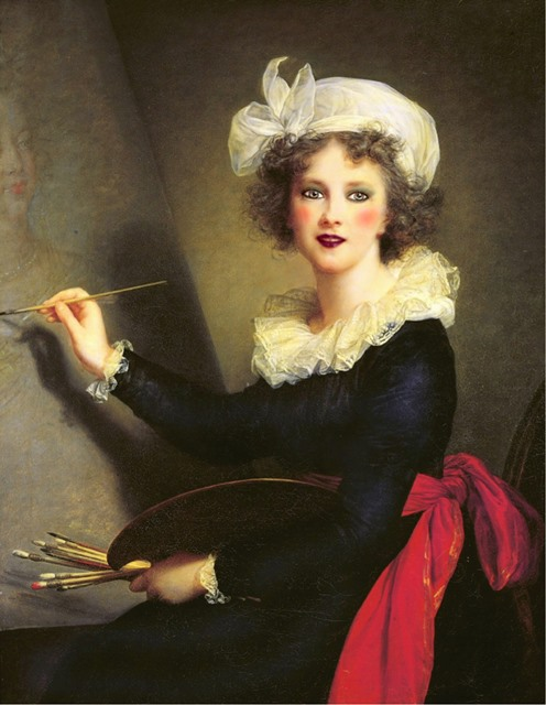 Élisabeth Louise Vigée Le Brun, Self-Portrait, 1790, Uffizi Gallery.