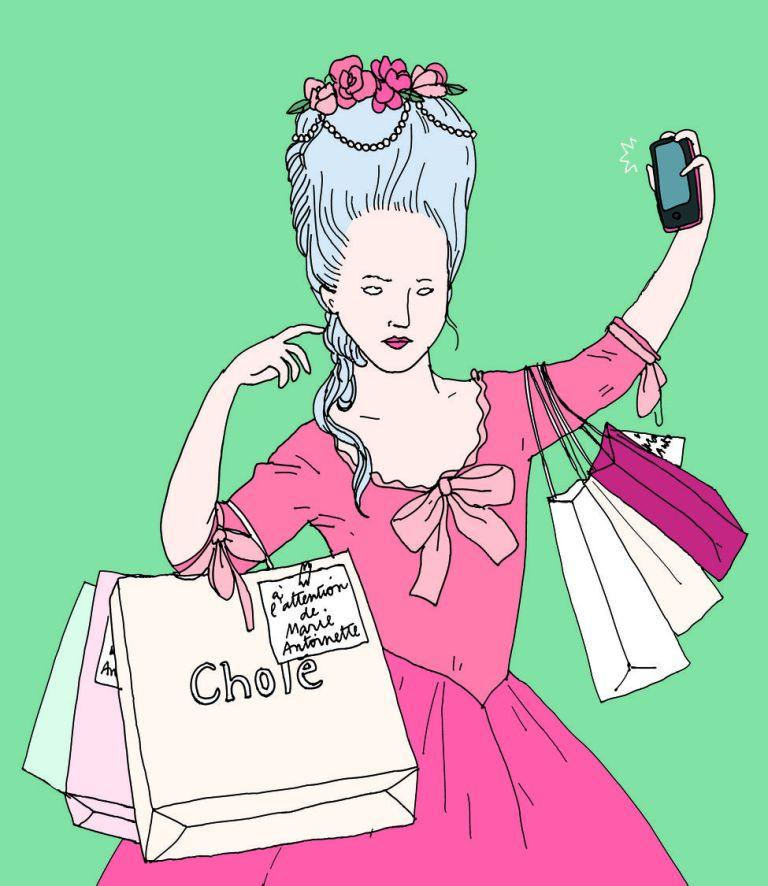 Marie-Antoinette 2015, tête à clics Illustration Anna Wanda Gogusey