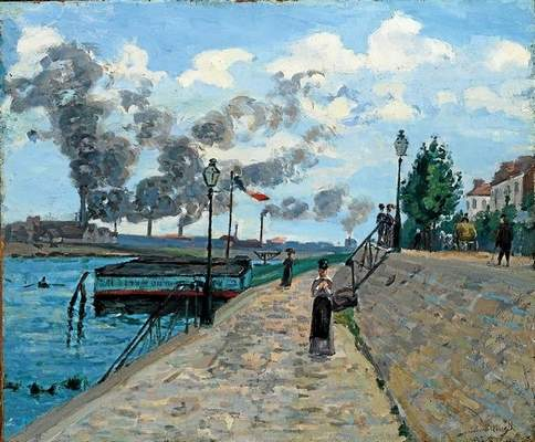 """The Seine at Charenton"" by Jean-Baptiste Armand Guilaumin in the exhibit, ""A Revolution of the Palette: The First Synthetic Blues and Their Impact on French Artists,"" at the Norton Simon Museum in Pasadena July 17-Jan 4. Photo courtesy of the Norton Simon Museum."