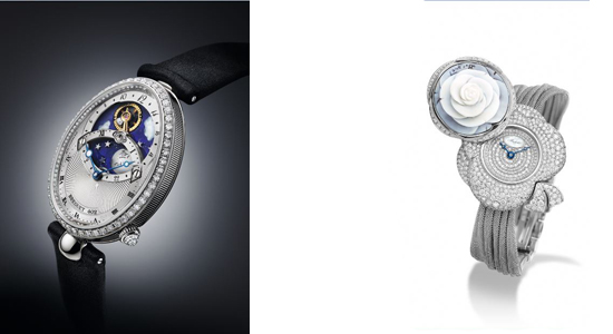 Watches from Breguet, namely Reine de Naples and Secret de la Reine.