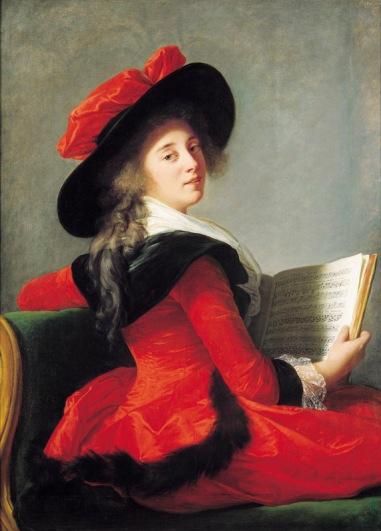 Élisabeth Vigée Le Brun (1755-1842) La baronne de Crussol, 1785 Huile sur panneau - 113,8 x 84 cm Toulouse, Musée des Augustins Photo : Musée des Augustins