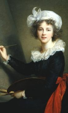 A self-portrait by Élisabeth Louise Vigée Le Brun (1755–1842). ( Galleria degli Uffizi, Corridoio Vasariano, Florence (1905))
