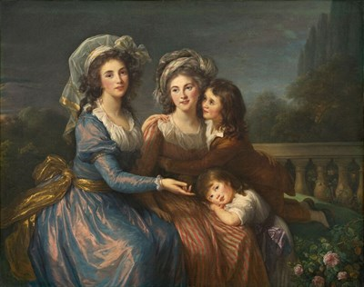 The Marquise de Pezay and the Marquise de Rougé with Her Two Sons, 1787, oil on canvas, 123.4 x 155.9 cm. National Gallery of Art, Washington.