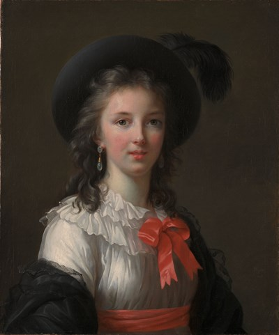 Élisabeth Louise Vigée LeBrun Self-Portrait with Cerise Ribbons, c. 1782. Oil on canvas, 64.8 x 54 cm Kimbell Art Museum, Fort Worth, Texas.